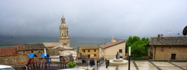 Pilgrims on their way toward Santiago de Compostela